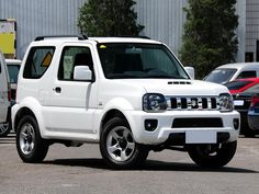 Pictures of a white suzuki Jimny car. You can buy and sell a suzuki Jimny, look at listings for cars. Used suzuki Jimny cars Jimny Sierra, Jimny Suzuki, Suzuki Cars, Compare Cars, Mini Trucks, Sweet Cars, Cute Cars, First Car, Samurai