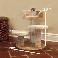 Majestic Pet 27 in. Casita Fur Cat Tree - 78899578040