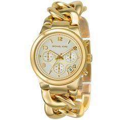 Часы женские Michael Kors Runway Twist, золотой