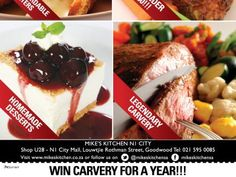 Mikes Kitchen Wonderpark - Win Carvery for a Year! Starters, Beef, Breakfast, Kitchen, Desserts, Food, City, Meat, Morning Coffee