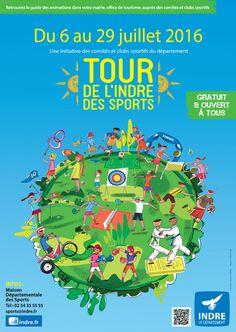 Tour de l'Indre des Sports, Vatan, Espace derrière le camping, Mercredi 6 Juillet 2016, 14h00 > 18h00