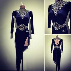 #ABRAHAMMARTINEZ #dress #black #velvet #dance #latin #elegance #forsale For Sale!!!