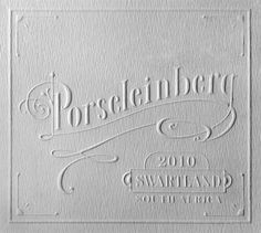Letterpress wine label