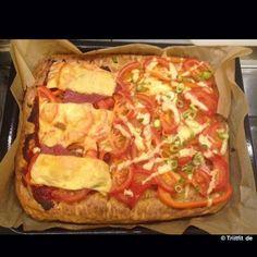 Endlich gibts wieder Pizza.. Und die hat sogar ordentlich Protein zu bieten! #Rezept