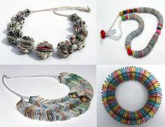 #Liz Hamman #paper #jewellery