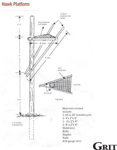 DIY Hawk Platform: Sustainable Gopher Control
