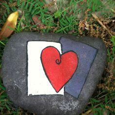Heart Painted Rock :)
