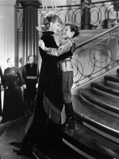 "Greta Garbo and her worthy co-star Freddie Bartholomew in ""Anna Karenina"". 1935."
