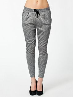 Lexi Luxa Pants - Only - Light Gray - Trousers & Shorts - Clothing - Women - Nelly.com Uk