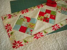 A Quilting Life - a quilt blog: Scrappy 9-Patch Table Runner Tutorial