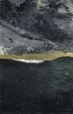 'Wave VII' (1900-01) by Swedish painter & novelist August Strindberg (1849-1912). Oil on canvas. via wowgreat on tumblr
