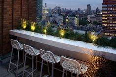 Balkon gestalten Ideen Tisch Beleuchtung Ideen frisch modern einrichten