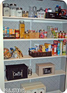 Organiser sa petite épicerie, dans un placard de la cuisine