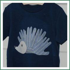 DIY Handprint Hedgehog Shirt.  Fun craft for me and A to do together.