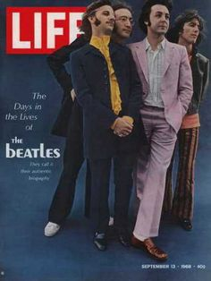 The Beatles on the cover of Life magazine, 1968.