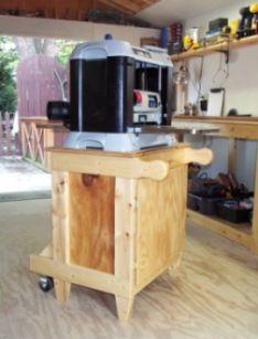 Planer Amp Miter Saw Flip Cabinet Woodshop Ideas Tools