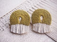 Image of Woven Rope Earring~Mustard