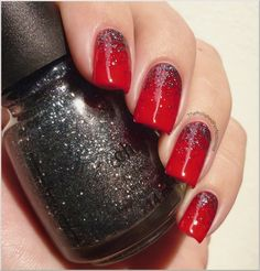 China Glaze - Tinsel Town + Poinsettia, combined in perfection...Totally trying next Xmas!