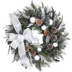 First Snow Winter Holiday Wreath by None, via Polyvore