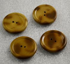 """8 Fine Vintage Italian Round Curve Design 2 Hole Buttons Browns /& Tans 1/"""""""