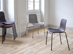 NORR11 Langue Stack Dining Chairs with our Langue Chair - Seat Cushion