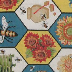 Port Needle China rug with bee theme