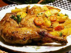 Marinované králičí předky, pečené na bramborách Top Recipes, Cooking Recipes, Tandoori Chicken, Pork, Food And Drink, Treats, Health, Ethnic Recipes, Fitness