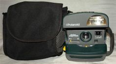 ~ Vintage Green Polaroid ONE STEP EXPRESS Instant 600 Film Land Camera ~