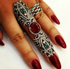 Want need desire covet this lush armor ring Instagram