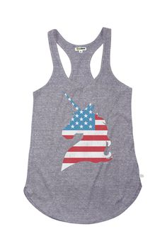 Women's USA Unicorn Tank Top | Tipsy Elves