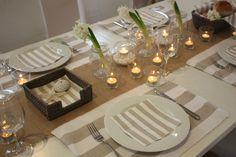 Hamptons style tablescape