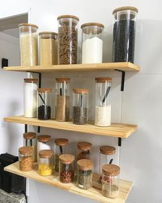 23 Clever DIY Christmas Decoration Ideas By Crafty Panda Kitchen Jars, Home Decor Kitchen, Diy Kitchen, Kitchen Interior, Interior Design Living Room, Home Kitchens, Kitchen Organization Pantry, Home Organisation, Diy Home Decor Projects
