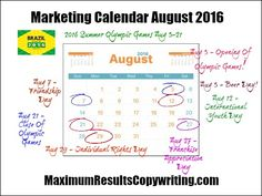 Looking Ahead  Marketing Calendar January   Http