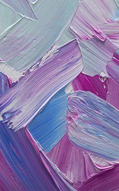 "Tapeten-Wandbild ""Pinselstrich-Effekt – blau und pink gemischt"" | Murals Wallpaper"