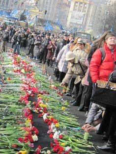 The glory and the eternal memory of Ukrainian heroes who died in the fight against criminal Yanukovych regime!!! 24.02.2014
