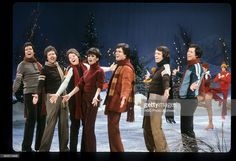 The Osmonds, Christmas 1979. From left to right: Alan, Merrill, Jimmy, Marie, Donny, Jay and Wayne.