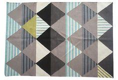 """""""Omar"""" Flat-Weave wool rug, Multi.  Aelfie rugs, Brooklyn."""