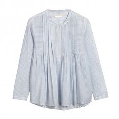 Voile Shirt Chinti and Parker (€51) ❤ liked on Polyvore featuring tops, shirts, long sleeves, loose shirts, striped top, loose tops, stripe shirt and bohemian shirts