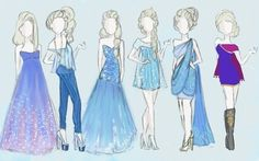 I have a passion for designing fashion. Here are some of my sketches! ♡