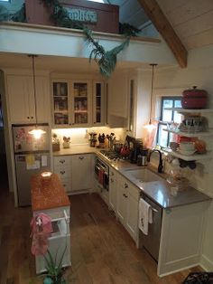 small cottage kitchen and loft