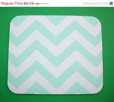 Cyber Monday Sale  Mouse Pad mousepad / Mat  round  mint by Laa766 chic / cute / preppy / laptop accessory / desk, computer accessory / office decor / gift / patterned design / school