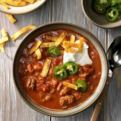 Chili Recipes, Slow Cooker Recipes, Mexican Food Recipes, Cooking Recipes, Ethnic Recipes, Mexican Cooking, Cooking Ideas, Pie Recipes, Soups