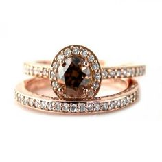 cool The Elegant and Exotic Chocolate Diamond Wedding Rings Check more at http://jharlowweddingplanning.com/the-elegant-and-exotic-chocolate-diamond-wedding-rings
