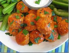 HEALTHY & SPICY BUFFALO CHICKEN MEATBALLS