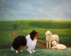 Dollhouse Miniature Tri Collie by heartfeltcanines