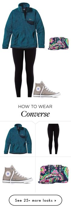 """""""my Patagonia is currently in illinois """" by jackelinhernandez on Polyvore featuring Patagonia, Converse and Vera Bradley"""