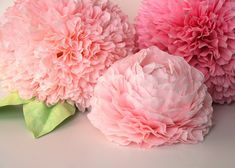 Coffee Filter Flower Centerpiece by all things paper, via Flickr