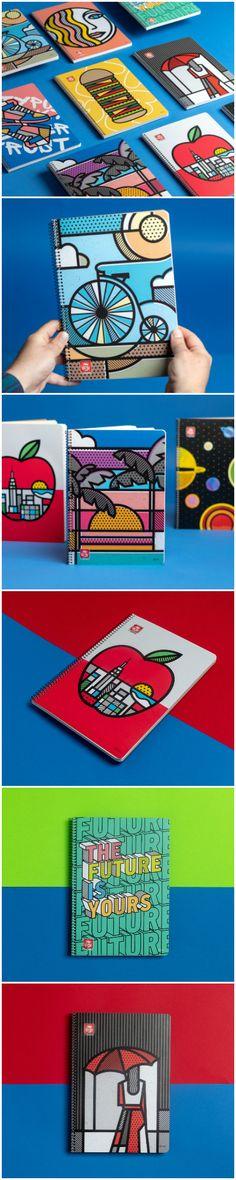 Typotrust Notebooks - World Brand Design Brand Identity Design, Brand Design, Design Design, Crea Design, Book Design Layout, Bookbinding, Design Reference, Magazine Design, Graphic Design Illustration