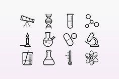 biology tattoo Science icons by Medialoot ! These outlined stroke icons are for physics, chemistry and astronomy. Im trying really hard to avoid using science puns, so let me just share the link before I say anything silly Biology Tattoo, Chemistry Tattoo, Science Tattoos, Dna Tattoo, Science Chemistry, Tattoo Flash, Mini Tattoos, Small Tattoos, Cat Tattoos