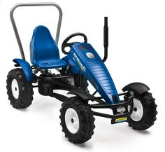 Features:  -Includes a rear mount for optional attachments like the metal bucket or bulldozer.  -Authentic pneumatic tractor tires, logo and rear lift kit.  Product Type: -ATV/Jeep.  Color: -Blue.  Pr
